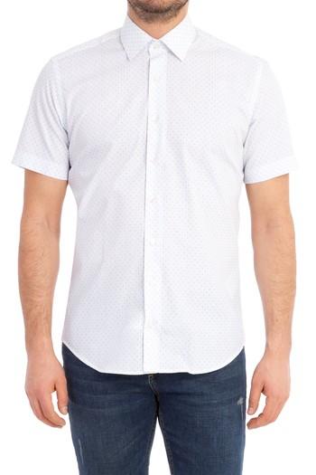 Kısa Kol Slim Fit Desenli Gömlek