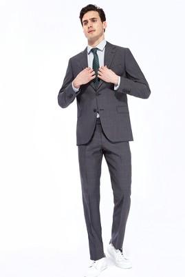 İtalyan Yün Kareli Regular Fit Takım Elbise