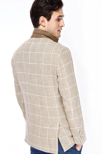 İtalyan Yünlü Kareli Ceket