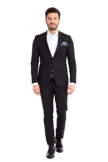 Süper Slim Fit İtalyan Yün Takım Elbise