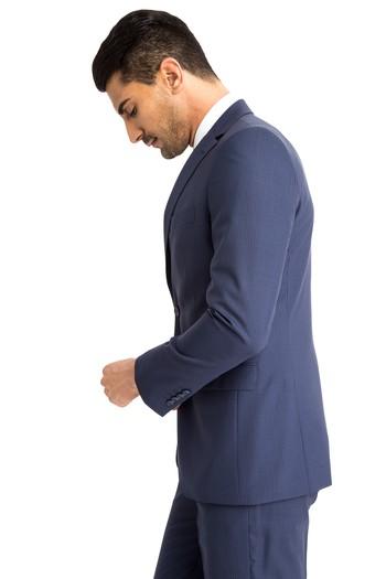 Yün Çizgili Takım Elbise