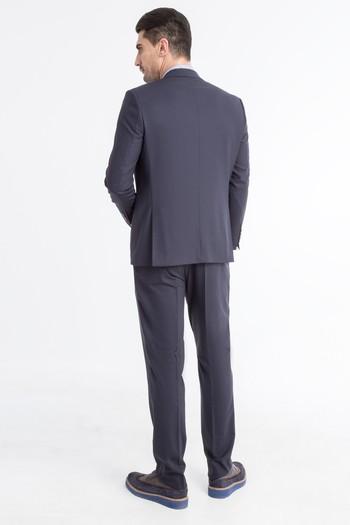 Yünlü Desenli Takım Elbise