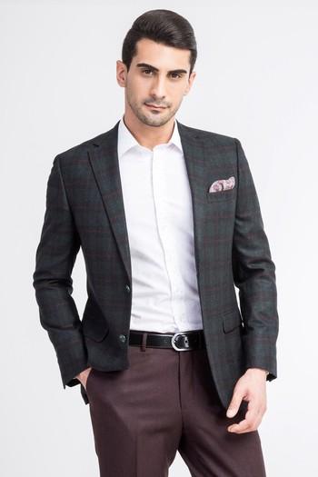 Kaşmir Ekose Ceket