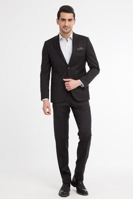 Slim Fit İtalyan Yün Ekose Takım Elbise