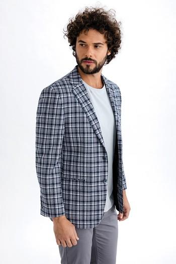 İtalyan Yün Ekose Ceket