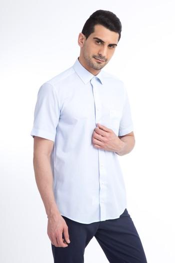 Kısa Kol Kareli Klasik Gömlek