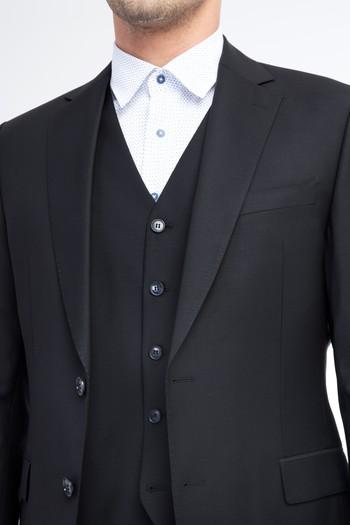 Yünlü Yelekli Takım Elbise