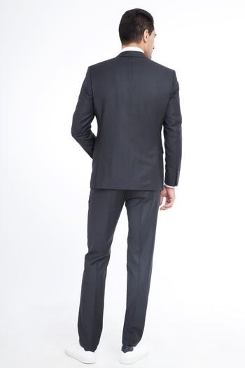 Slim Fit Yün Takım Elbise