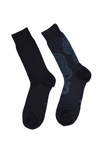 2'li Desenli Bambu Çorap