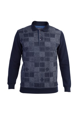 Polo Yaka Ekose Sweatshirt