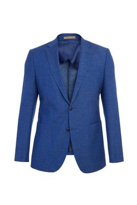 Slim Fit Yünlü İtalyan Desenli Ceket