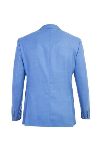 Slim Fit İtalyan Yün Desenli Ceket
