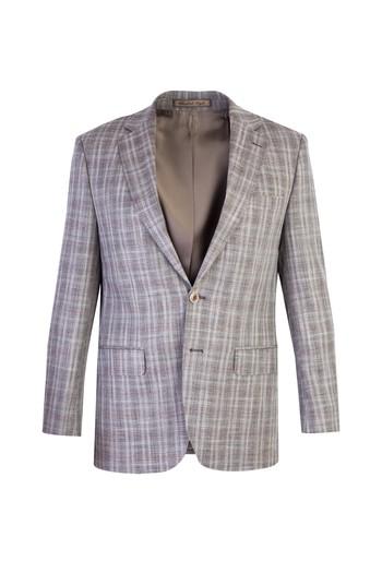 İtalyan Klasik Desenli Yünlü Ceket
