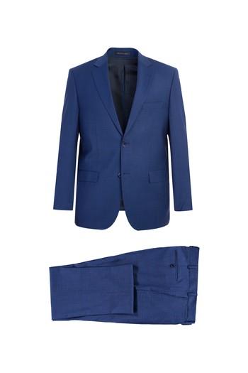 İtalyan Yünlü Ekose Takım Elbise