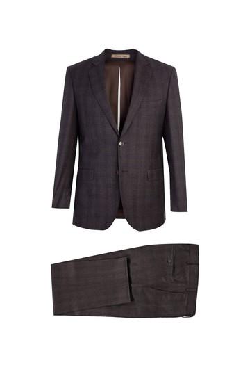 İtalyan Yün Ekose Takım Elbise
