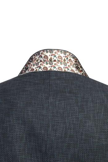 İtalyan Yünlü Desenli Klasik Ceket