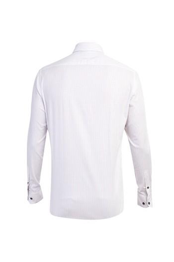 Uzun Kol Çizgili Slim Fit Gömlek