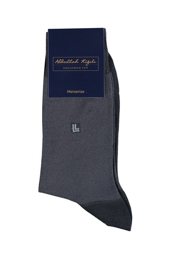 Desenli Merserize Çorap