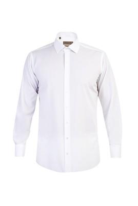 Uzun Kol Kolay Ütülenir Manşetli Klasik Gömlek