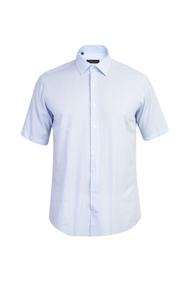 Kısa Kol Desenli Klasik Gömlek