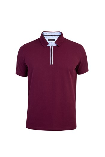 Polo Yaka Fermuarlı Regular Fit Tişört
