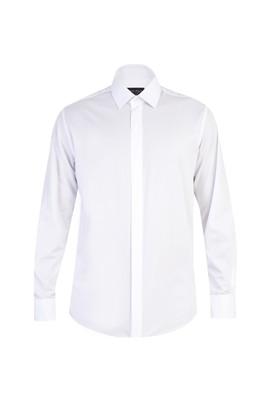 Uzun Kol Manşetli Slim Fit Gömlek