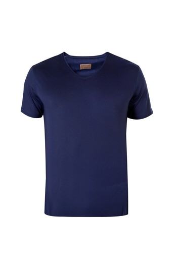 V Yaka Merserize Tişört