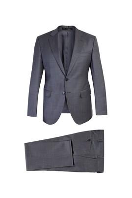 Slim Fit Kuşgözü Yünlü Takım Elbise