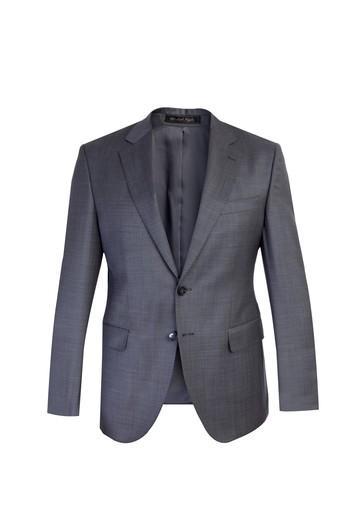 Slim Fit Yün Kuşgözü Takım Elbise