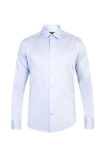 Uzun Kol Non-Iron Saten Slim Fit Gömlek