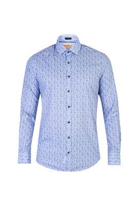 Uzun Kol Baskılı Slim Fit Gömlek