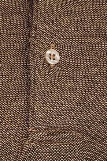 Polo Yaka Desenli Slim Fit Tişört