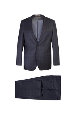 İtalyan Regular Fit Yün Ekose Takım Elbise