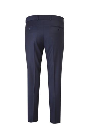Slim Fit Yün Desenli Takım Elbise