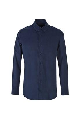 Uzun Kol Kadife Klasik Gömlek