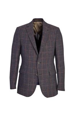 İtalyan Klasik Kareli Yün Ceket