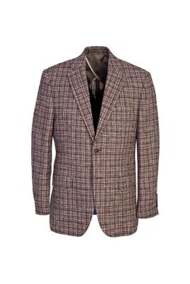 İtalyan Regular Fit Yünlü Desenli Ceket