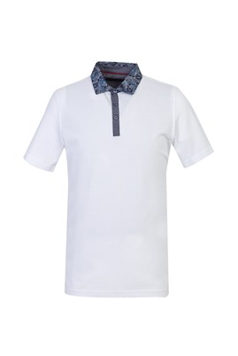 Polo Yaka Regular Fit Baskılı Tişört
