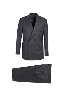 Kruvaze Yünlü Takım Elbise