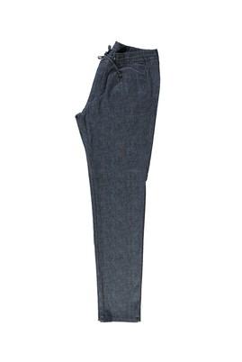 Slim Fit Spor Desenli Bağcıklı Pantolon