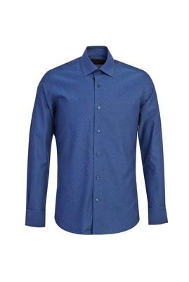 Uzun Kol Non Iron Desenli Slim Fit Gömlek