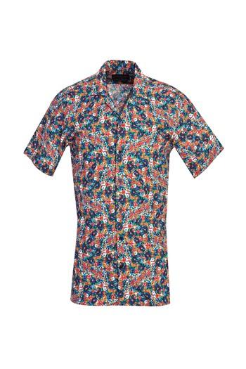 Kısa Kol Regular Fit Baskılı Gömlek