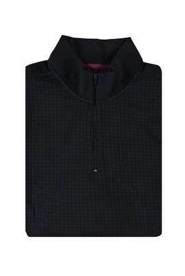 King Size Bato Yaka Slim Fit Fermuarlı Sweatshirt