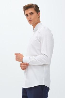 Slim Fit Uzun Kol Desenli Gömlek