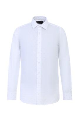 Uzun Kol Slim Fit Baskılı Gömlek