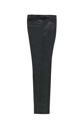 Slim Fit Klasik Tokalı Pileli Yünlü Pantolon