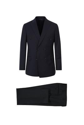 Yün Slim Fit Kruvaze Takım Elbise