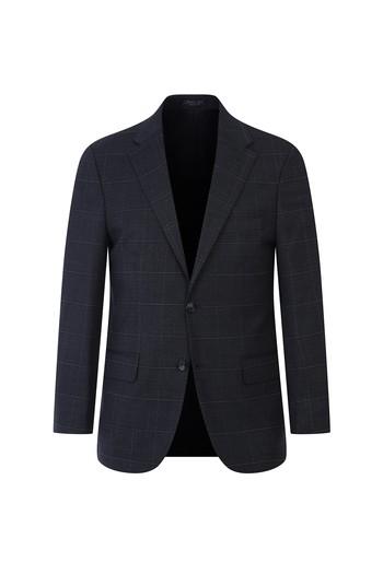 Regular Fit Yünlü Kareli Takım Elbise