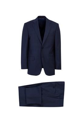 Regular Fit Ekose Yün Takım Elbise