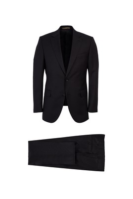 Yün Çizgili Klasik Takım Elbise